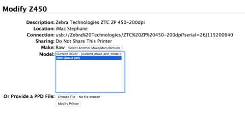 Thermal printer settings (Mac OS) – Ship&co